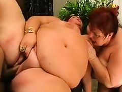 Two Mature BBWs in a Threesome